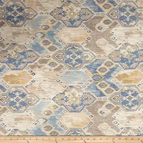 Richloom Fabrics Prescott Linen Fabric Blue Stone