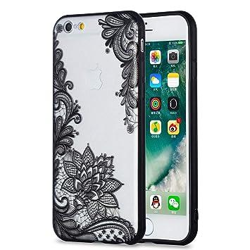 CoverTpu Funda iPhone 6s, Negro Funda iPhone 6s Transparente ...