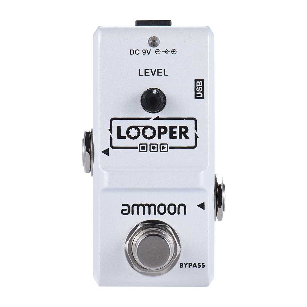 ammoon AP-09 Nano-Schleife E-Gitarre Effektpedal Looper True Bypass unbegrenzte Overdubs 10 Minuten mit USB-Kabel der Aufnahme I1995332