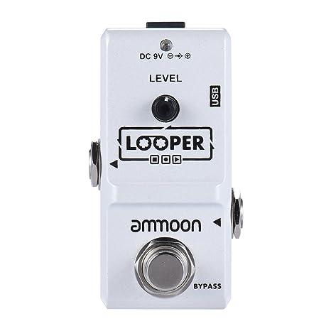 ammoon AP-09 Nano Loop Pedal Efecto Guitarra Eléctrica True Bypass Looper Overdubs Ilimitadas 10