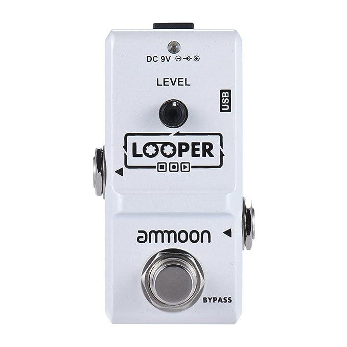 ammoon AP-09 Nano Loop Pedal Efecto Guitarra Eléctrica True Bypass Looper Overdubs Ilimitadas 10 Minutos de Grabación con Cable USB: Amazon.es: Instrumentos ...