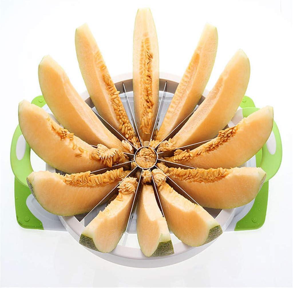 Sand/ía Cortador Frutas M/últiples Funciones De Acero Inoxidable Redondo Sand/ía Slicer Cortador De Cocina Creativa Inicio F/ácil Accesorios De Corte
