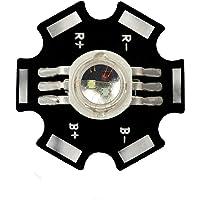 3W Componente LED de Alta Potencia, RBV/RGB Rojo