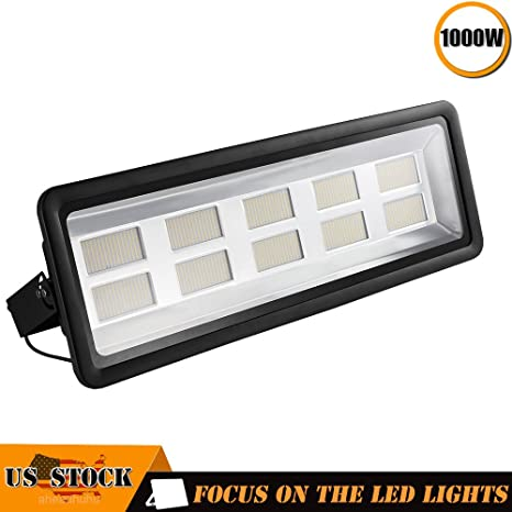 1000w Led Floodlight Led Exterior Flood Lights Led Spotlights Getseason Warm White Outdoor And Indoor Ip65 Waterproof Security Light For Garage