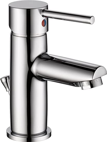 Delta 559LF-PP Modern Single-Handle Bathroom Faucet with Drain ...