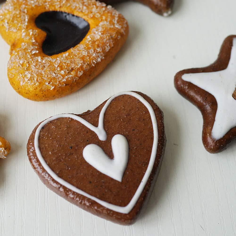 Ruiting Artificiale Cookie 6Pcs Faux Cookie Modello della Cucina della casa Decoration Kid Teether Giocattolo Simulazione Biscotto