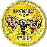 The lego batman movie Edible Cake Topper - 10'' round