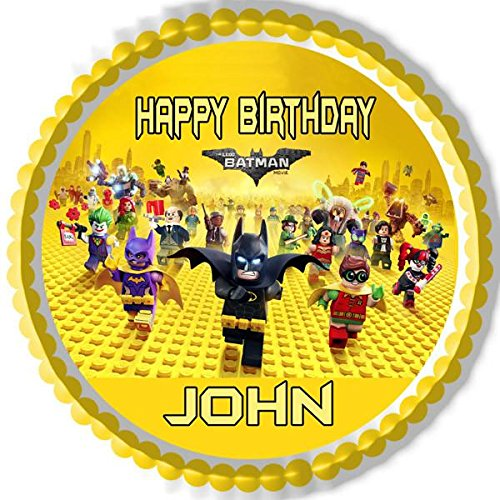 The lego batman movie Edible Cake Topper - 10'' round
