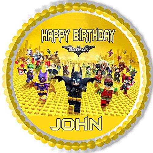 The lego batman movie Edible Cake Topper - 10'' x 16'' (1/2 sheet) rectangular