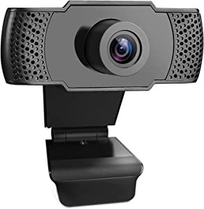 1080P HD Webcam with Microphone, Video Call Available Pro Streaming Web Camera, Widescreen USB Computer Camera for PC Mac Laptop Video Calling Conferencing Recording