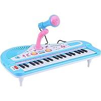 Teclado Electrónico Piano 37 Teclas Multifunción Mini Instrumento Electrónico de Música Para Piano Para Niños Pequeños Con Micrófono