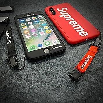 Supreme iPhone X Teléfono móvil de protección Integral sin una Banda Funda Cover Carcasa y Fundas Jordan (Nero): Amazon.es: Electrónica