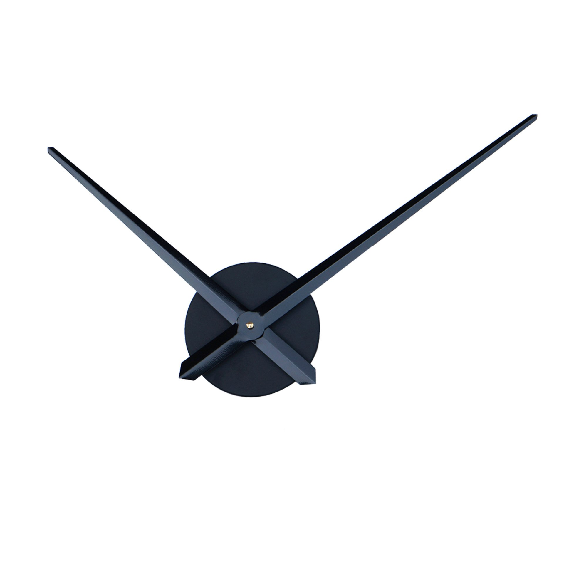 Reliable-E Aluminum Clock Hands Power Movement DIY Wall Clock Kit (Black)