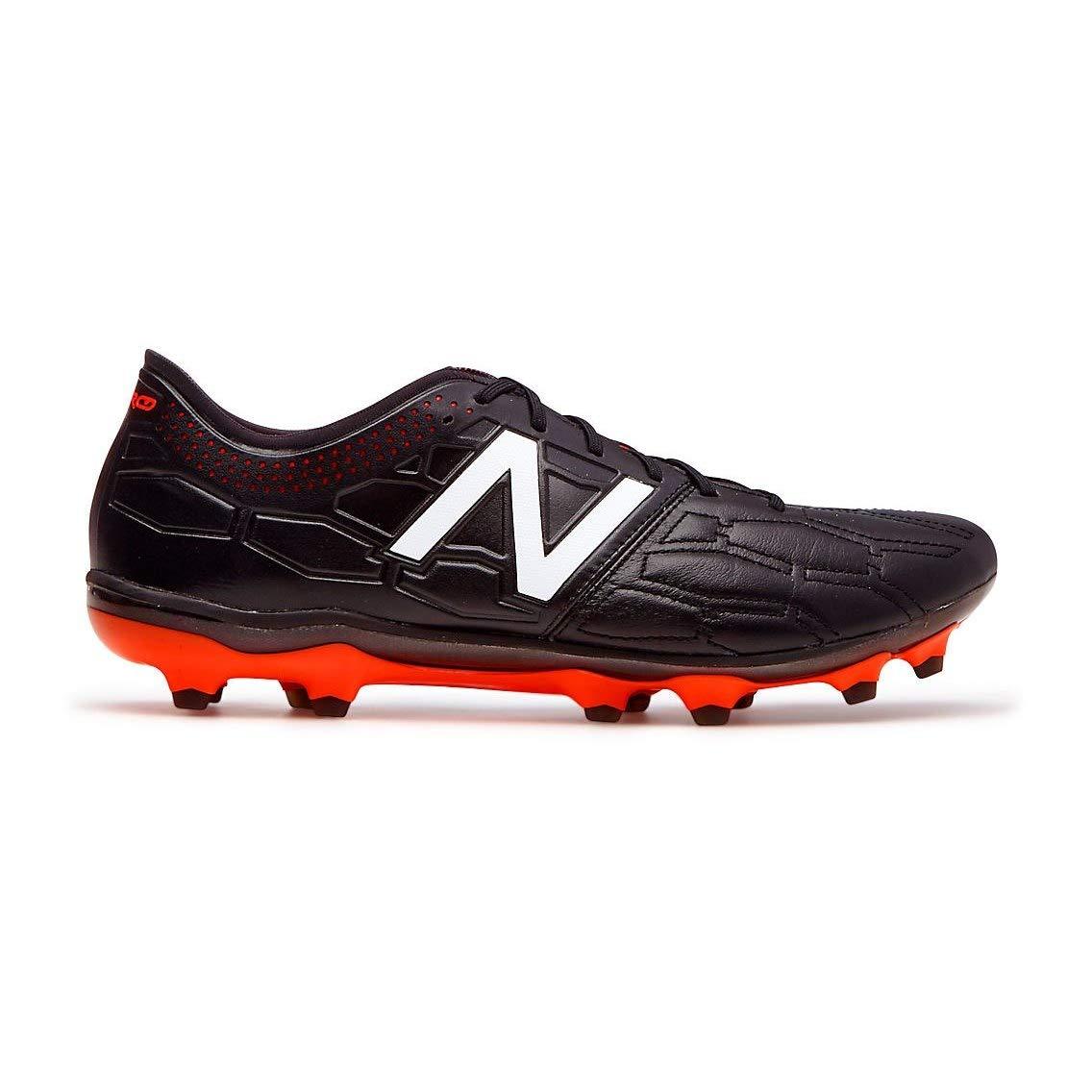 9d891297d6 Amazon.com: New Balance Visaro 2.0 Pro K Leather FG Football Boots - Adult  - Black/Alpha Orange - UK Shoe Size 8: Sports & Outdoors