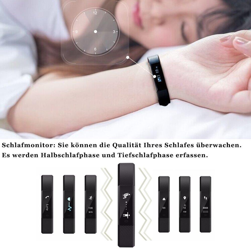 roguci 0.86 OLED Bluetooth Wearable Smart de banda, impermeable ...