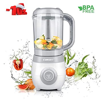 Sumgott Baby Food Maker 4 In 1 Baby Food Steamer And Blender With Steaming Blending Defrosting And Heating Multifunctions Food Processor