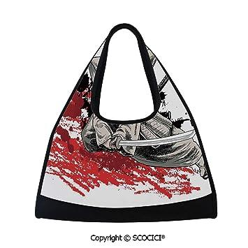 Amazon.com   Fitness bag, Warrior Holding a Katana in Ninja ...