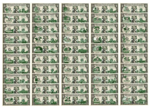 Set of 50 STATE $1 Bill *Genuine Legal Tender* U.S. One-Dollar Currency *Green*