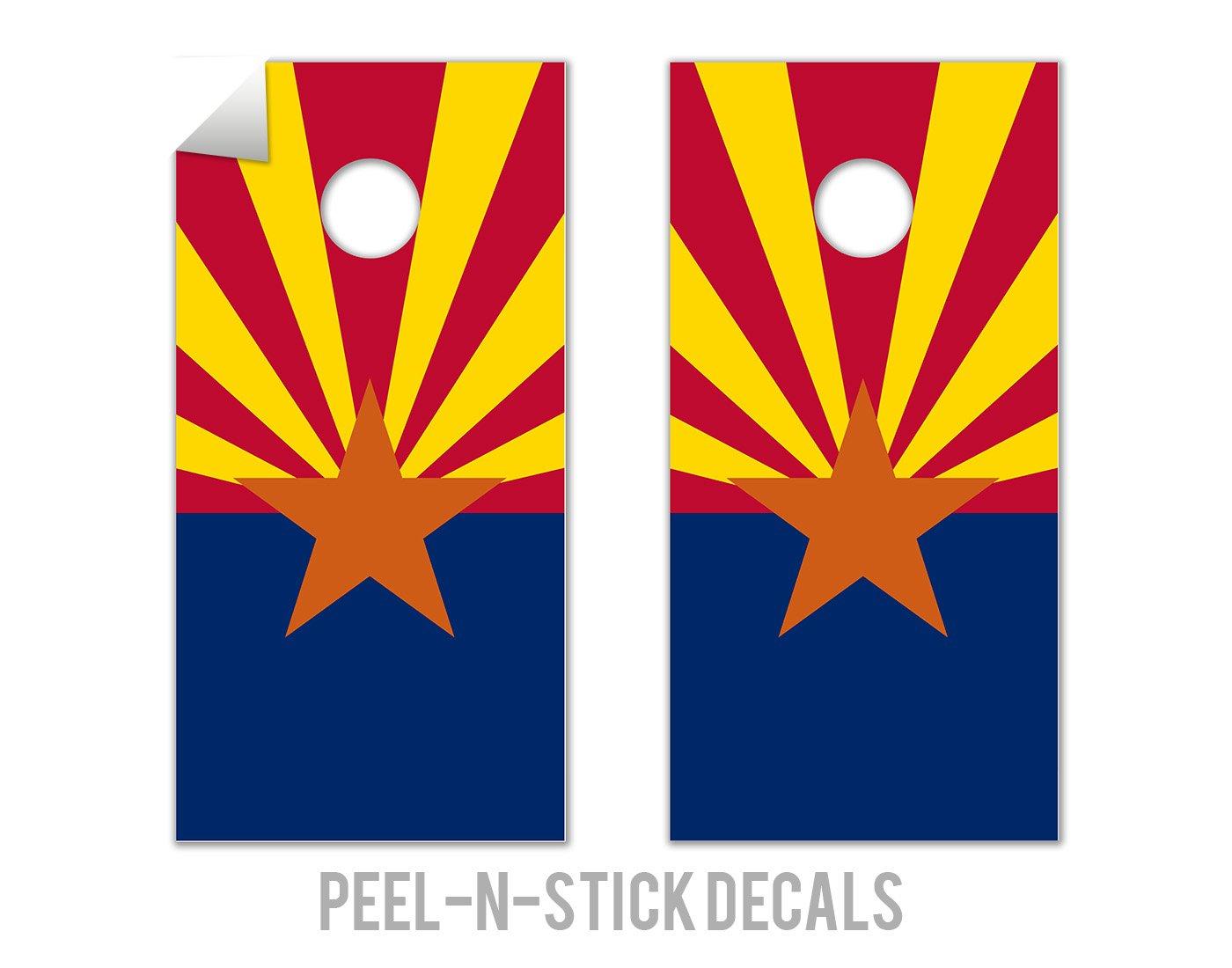 Arizona State Flag - Cornhole Crew - ACA Regulation Size Cornhole Board Decals