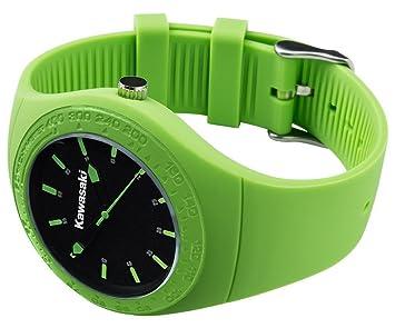 Reloj De Pulsera Watch Fan Artículo Kawasaki Original Nuevo Racing Ninja verde 186spm0028 de motocicleta de jank chiste: Amazon.es: Coche y moto