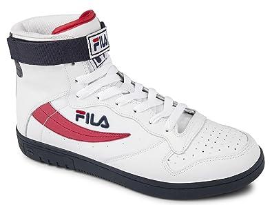 ffcee2ebfd23 Fila Mens FX-100 MID Trainers White Weiß (Bright White) Size  6 ...