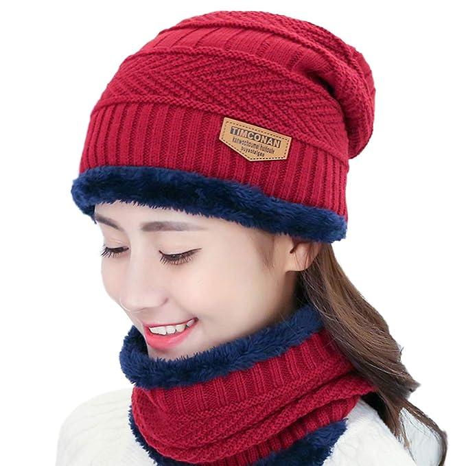 92aa1d80259 VORCOOL Winter Hat Headgear Bib Suit Tide Autumn Winter Men and ...