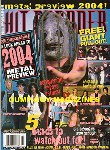 Hit Parader January 2004 Magazine METAL PREVIEW 2004 5 Bands To Watch For OLD SCHOOL vs NEW SCHOOL (Fuel Revolver)