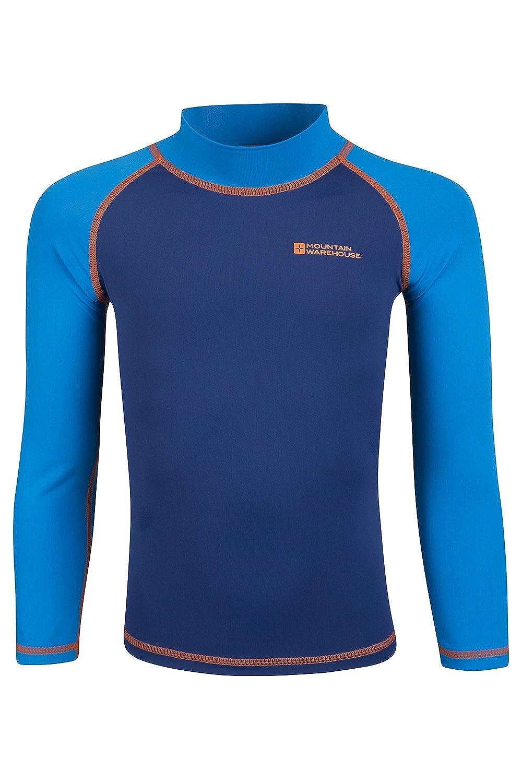 Mountain Warehouse Rash vest per bambini - Rash guard con protezione UV, maglia a maniche lunghe per bambini, cuciture piatte, asciugatura rapida, elasticizzata - Nuoto