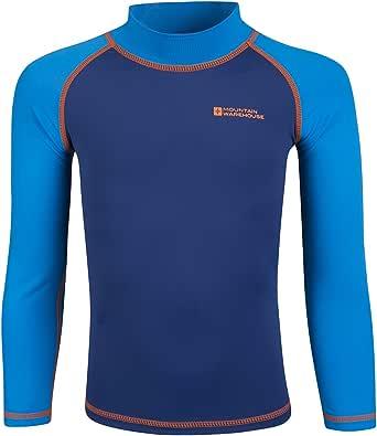 Mountain Warehouse Camiseta térmica para niños - Camiseta térmica con protección UV, Camiseta térmica de Manga Larga para niños, Costuras Planas