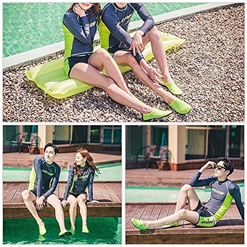 WOWFOOT Wassersport Skin Schuhe Erwachsene Kinder Slip auf Aqua Barfuß Strand Socken Surf Pool Durable Outsole Grün