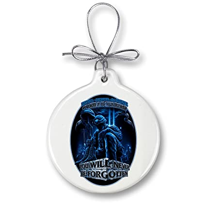 Christmas Ornaments – Patriotic Gifts for Men or Women – American Heroes Ornaments with a Silver