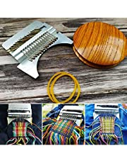 Small Loom Speedweve Type Weave Tool, Beginners Wooden Loom, Most Convenient Darning Loom for Mending Jeans, for Mending Jeans, Socks and Clothes Quickly and Easily (42 Hooks)
