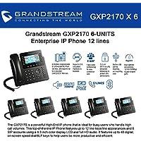 Grandstream GXP2170 (BUNDLE of 6) 12 Line IP Phone, Color Display-VoIP