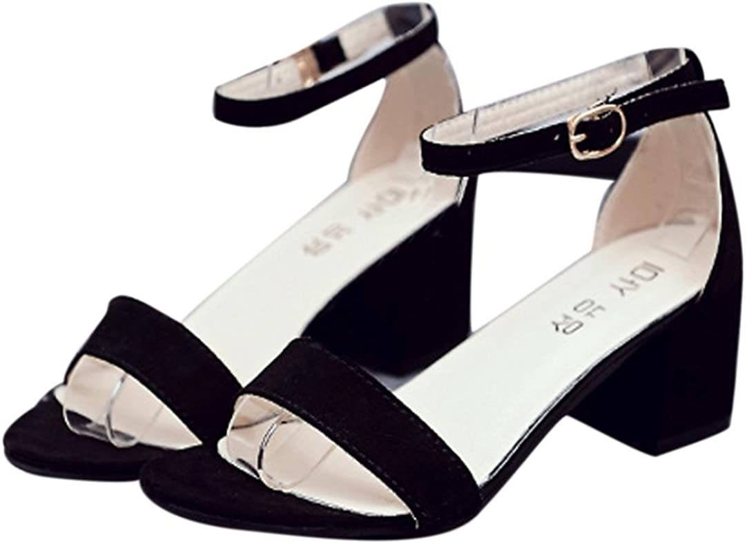Sandalias tacón Alta Chanclas de Verano para Mujer,Sonnena Zapatos de Mujer tacón Alta Pescado Boca Single Banda Tobillo Correa de Verano Sandalias Zapatos Estilo Urbano
