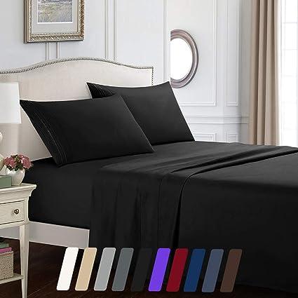 Amazon.com: Juego de sábanas de lujo de 4 piezas de ...