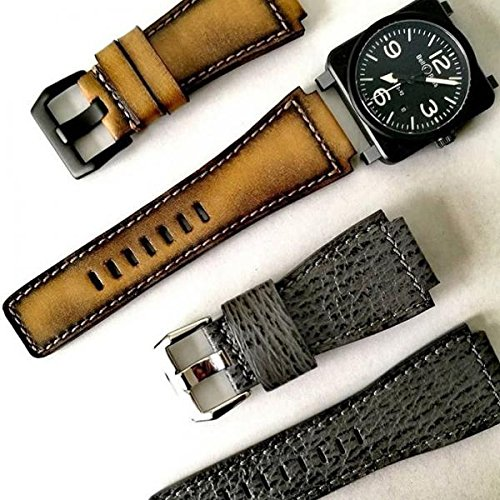 Custom Handmade Premium Calf Leather Watch Band for BR Bell and Ross Gunny Straps - Artdeco 2 by Gunny Store