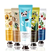 Tophany 5 Pack Extract Fragrance Hand Cream With Natural Aloe And Vitamin E, Family Travel Moisturizing Hand Feet Care Cream Hand Cream Set for Women and Girls