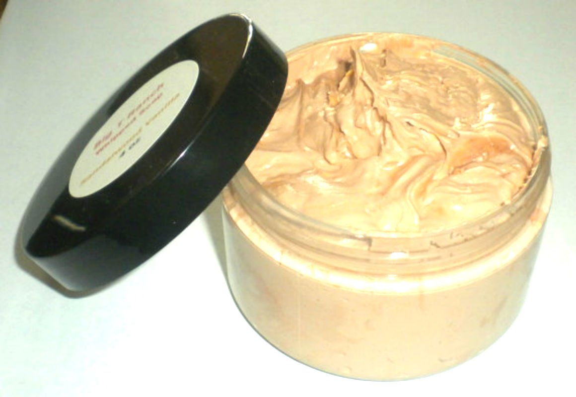 Foaming Bath Butter Whipped Soap - Soap in a Jar - Sandalwood Vanilla - Travel Soap - FREE U.S. SHIPPING - 4 oz - Gift for Mom