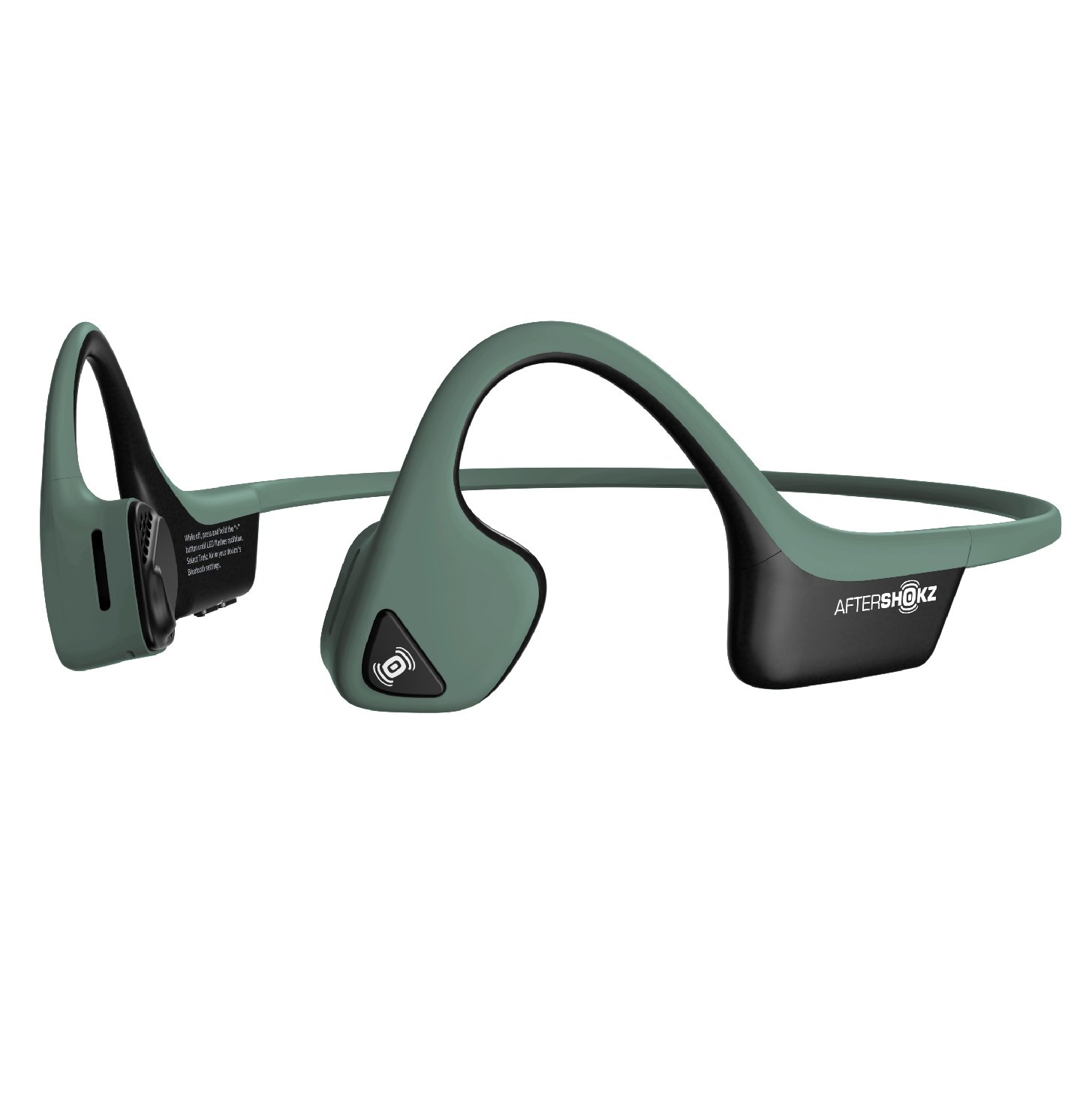 AfterShokz Air Open Ear Wireless Bone Conduction Headphones, Forest Green, AS650FG