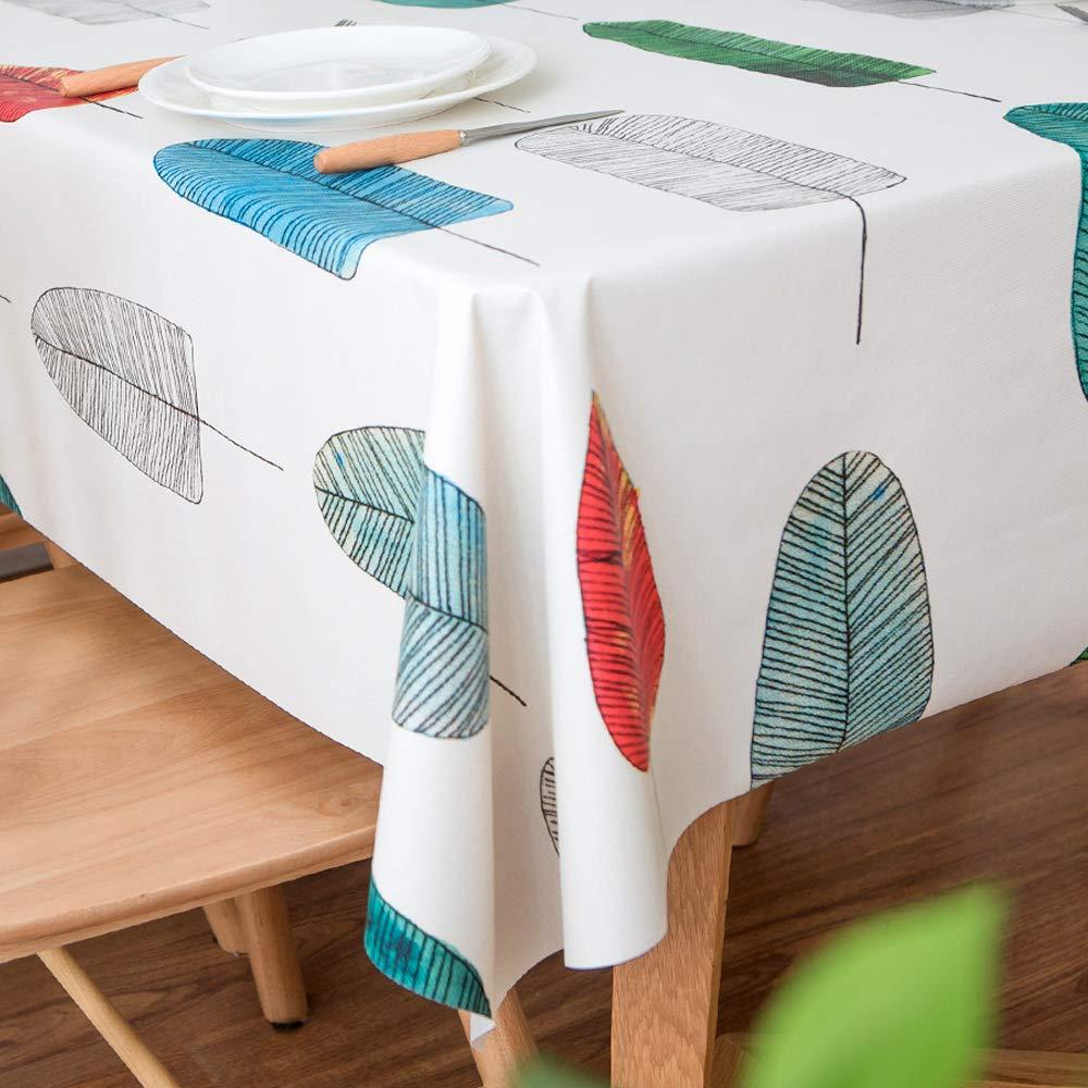 Lohascasa Vinyl Oilcloth Tablecloth Rectangle Spillproof