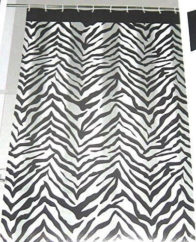 Zebra Pattern Vinyl Shower Curtain 72
