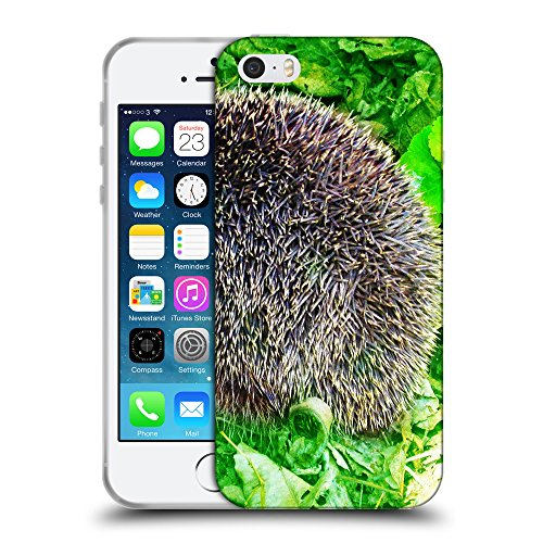 Just Phone Cases Coque de Protection TPU Silicone Case pour // V00004143 Les aiguilles de bêtes hérisson // Apple iPhone 5 5S 5G SE