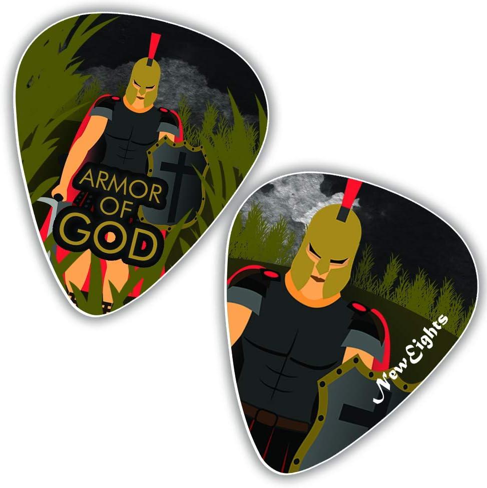 con texto en ingl/és /«Amazing Grace Juego de p/úas de guitarra cristiana Jesus Loves Me/»