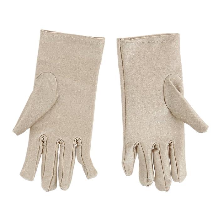 c73dcdb1c44f53 Frauen Damen Sonnenschutz UV-Schutz Handschuhe Opera Party Kleidung Kostüm  - Beige, Einheitsgröße