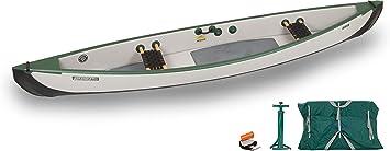 Sea Eagle TC16 Canoa de viaje inflable paquete básico con asientos web