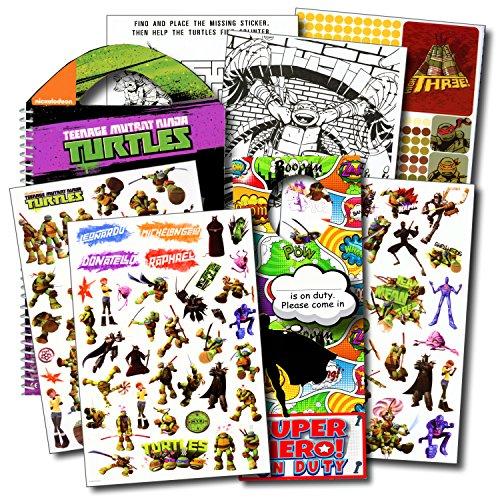 Ninja Turtles Stickers Travel Activity Set Bundle with Stickers, Activities, and Superhero Door Hanger