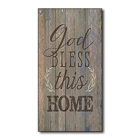 Mr.sign God Bless This Home Cartel de Pared Madera Placa ...