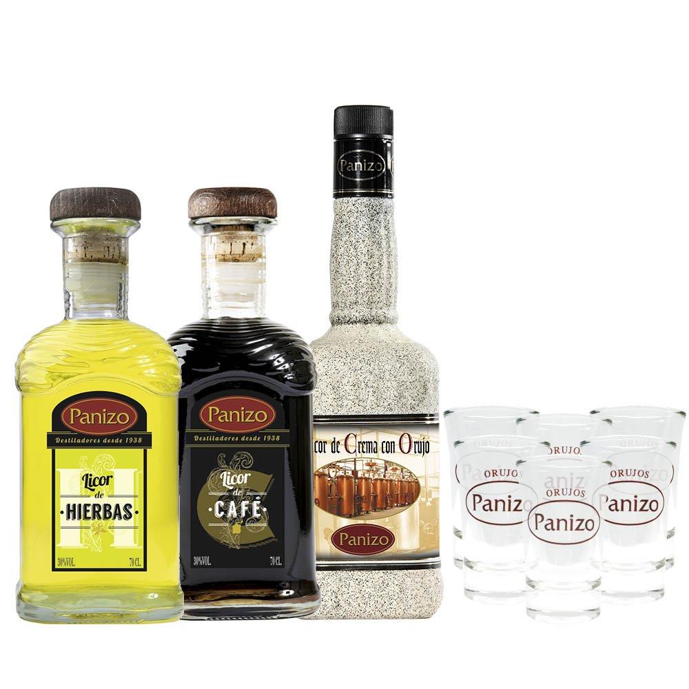 Pack Licores de Orujo Tripanizo + vasitos de regalo: Amazon.es: Alimentación y bebidas