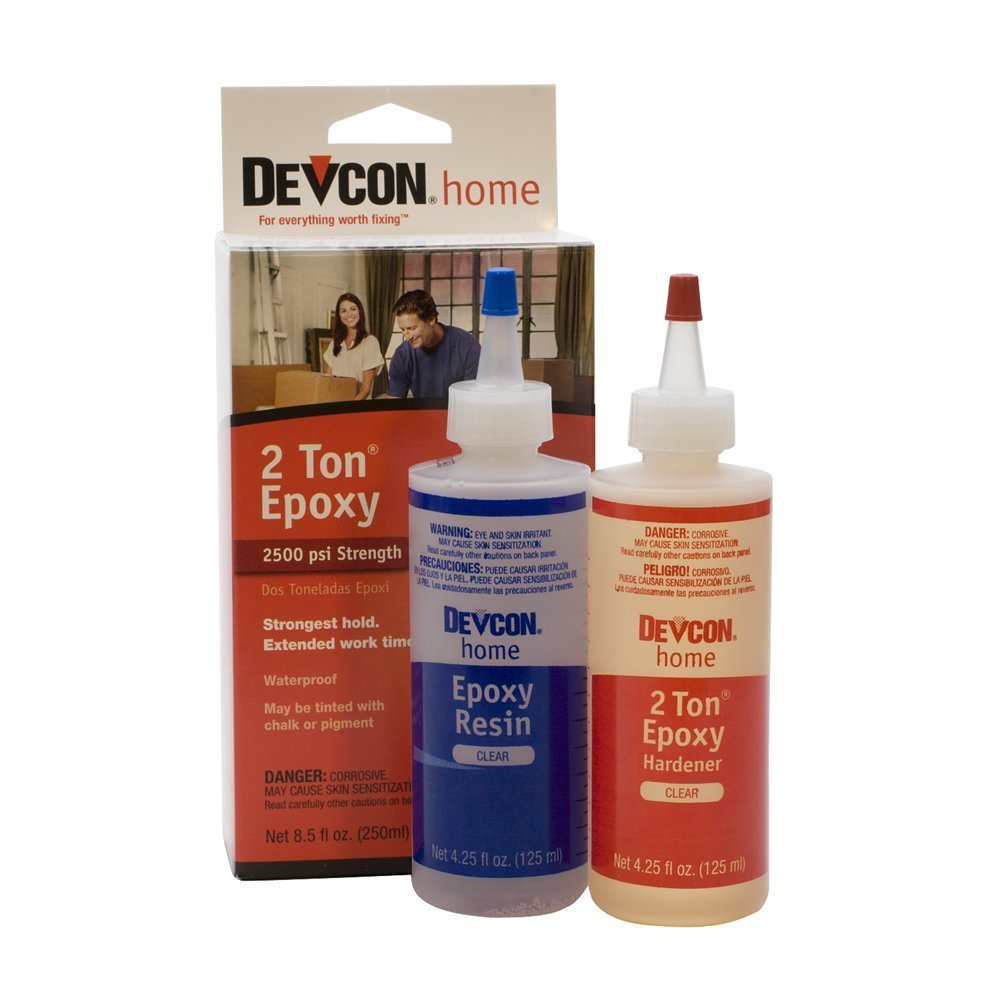 Devcon 33345 3 Pack 8.5 oz. 2 Ton Weld Epoxy, Clear