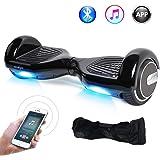 Windgoo Hoverboard Smart Scooter Bluetooth 6,5 Pouces,Gyropode Electrique APP Auto-équilibrage Moteur 700W Self Balance Board avec LED Scooter électrique pour Enfants und Adultes